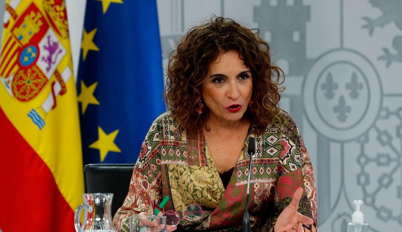María Jesús Montero, en rueda de prensa