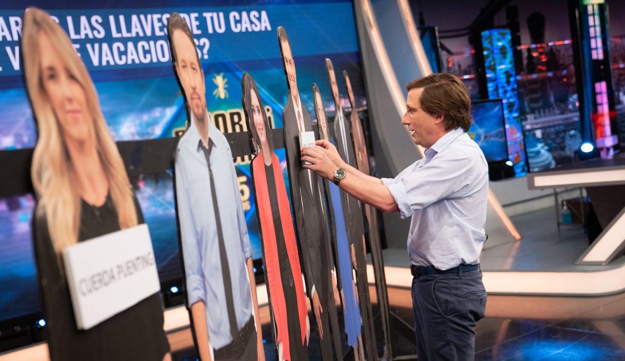 José Luis Martínez-Almeida se enfrenta a las preguntas más comprometidas: ¿Con qué político planearía un atraco o se iría de fiesta?