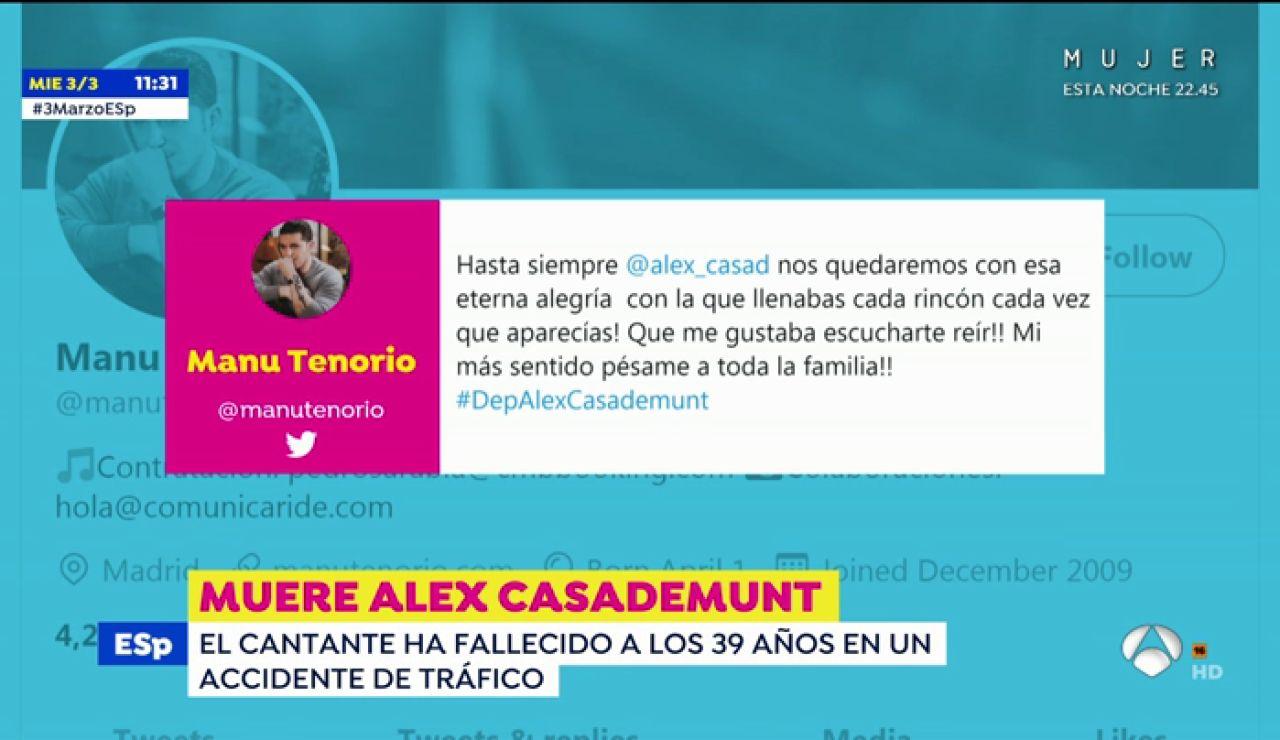 Los mensajes de cariño de Chenoa, Bisbal, Bustamante o Natalia tras conocer la muerte de Álex Casademunt de Operación Triunfo