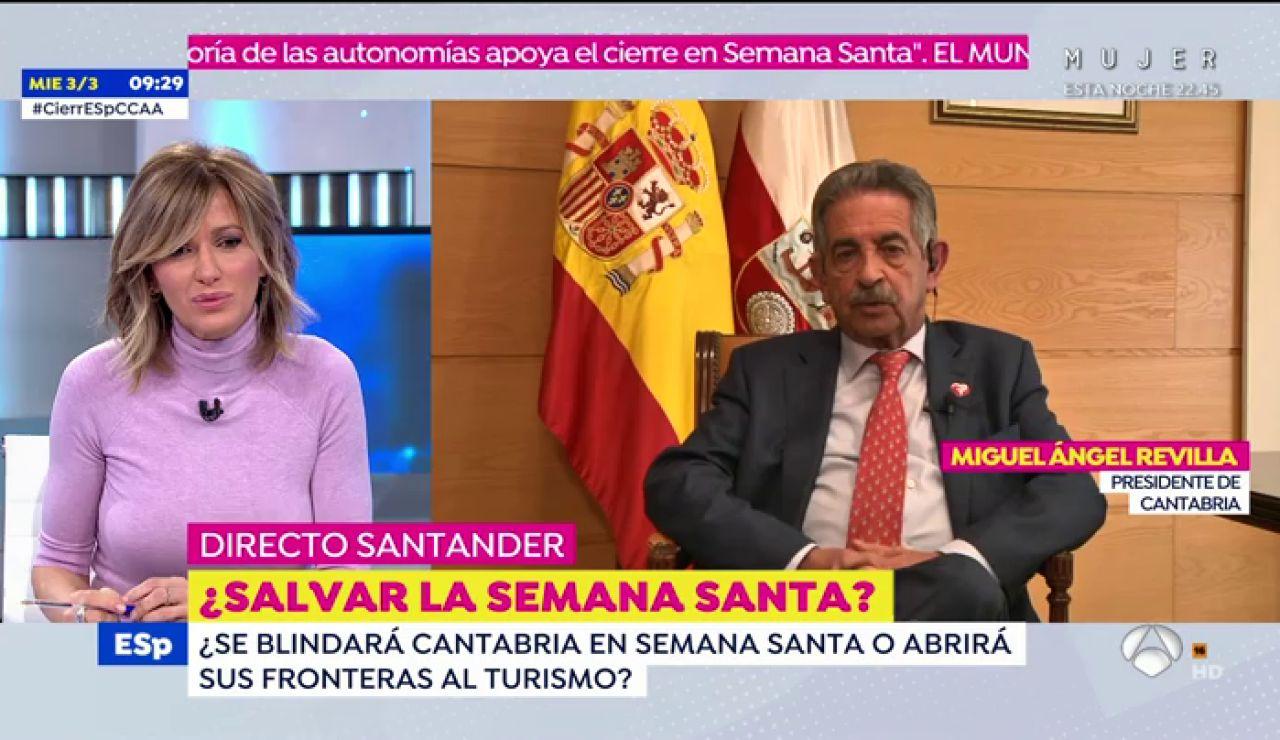 Miguel Ángel Revilla desvela los planes de Semana Santa de Cantabria frente al coronavirus