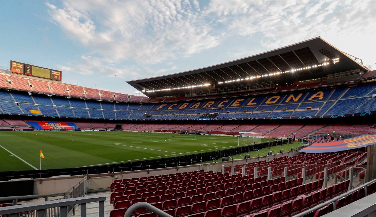 Vista del estadio Camp Nou de Barcelona