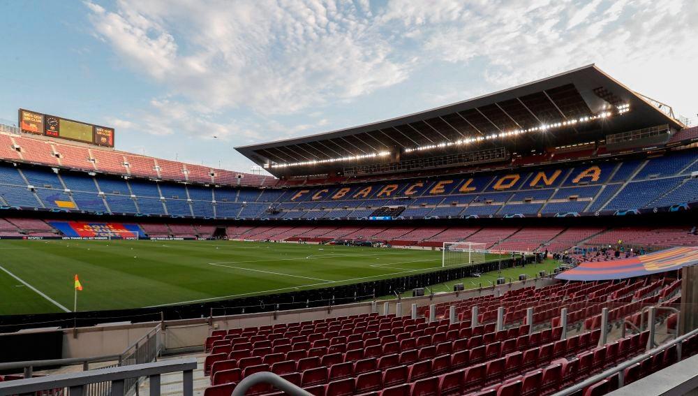 Vista del estadio Camp Nou de Barcelona