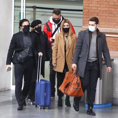 Bustamante, Chenoa, Natalia y Manu Tenorio rumbo a Barcelona