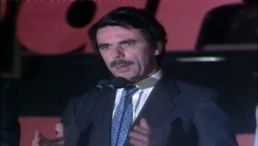 Se cumplen 25 años de la primera victoria del Partido Popular con José María Aznar