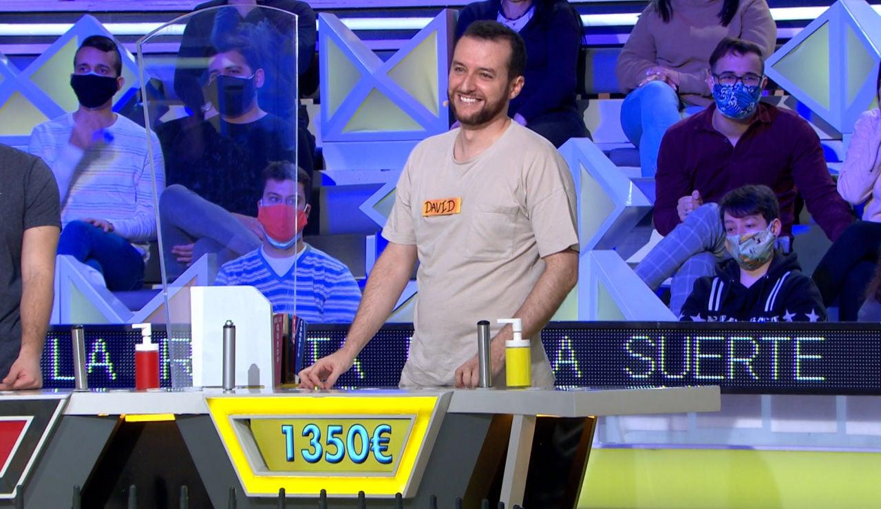 La dolorosa pérdida de David en 'La ruleta de la suerte': ¡Quiebra con más de 1.300€!