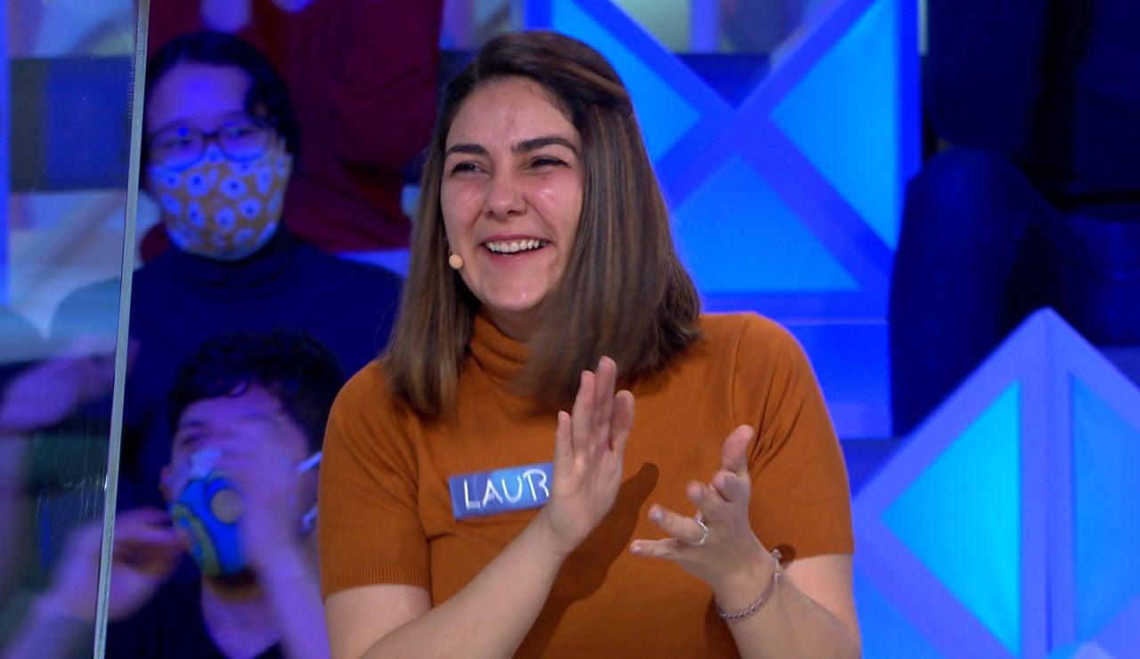 Laura se desmarca en 'La ruleta de la suerte': ¡Borda un panel y acumula 2.300€!