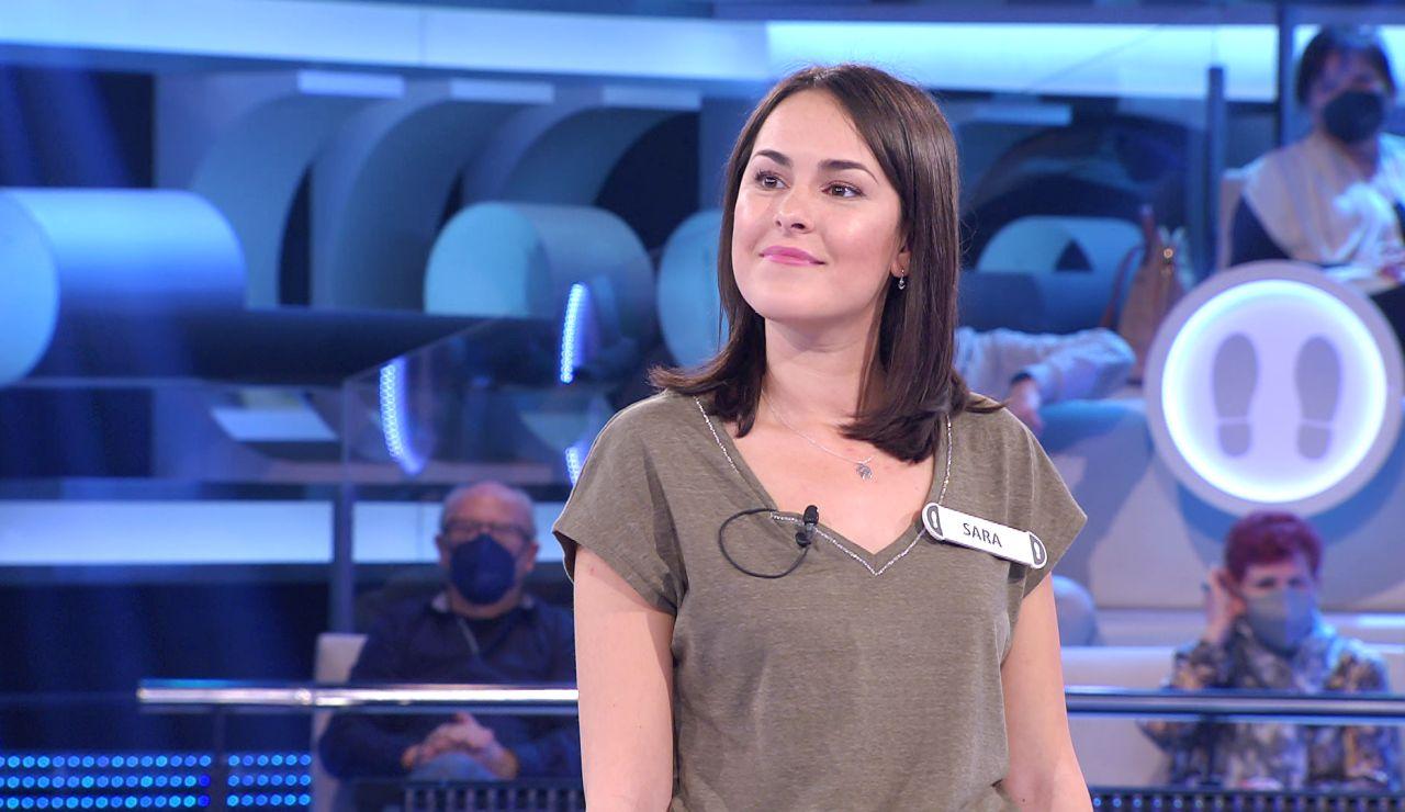 ¡Gran debut! Sara, a punto de llevarse 59.000 euros en su primer Duelo Final de '¡Ahora caigo!'