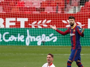 Gerard Piqué, en el partido ante el Sevilla