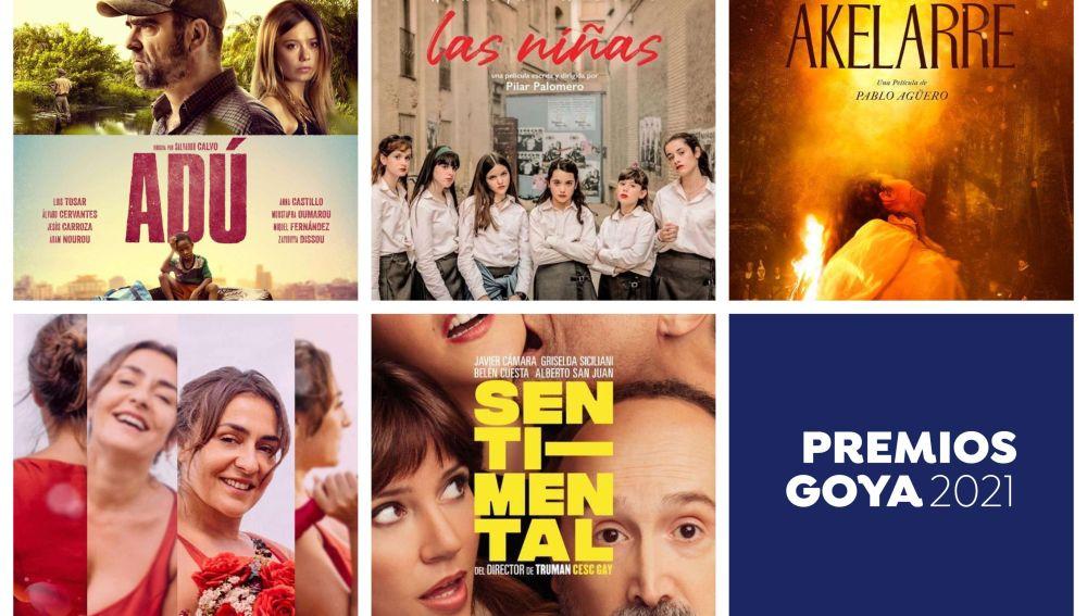 Premios Goya 2021: Dónde ver las películas nominadas a los Goya