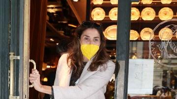 Paz Padilla, a la salida de un restaurante