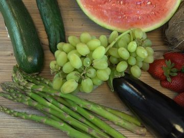 Calorías de frutas y verduras