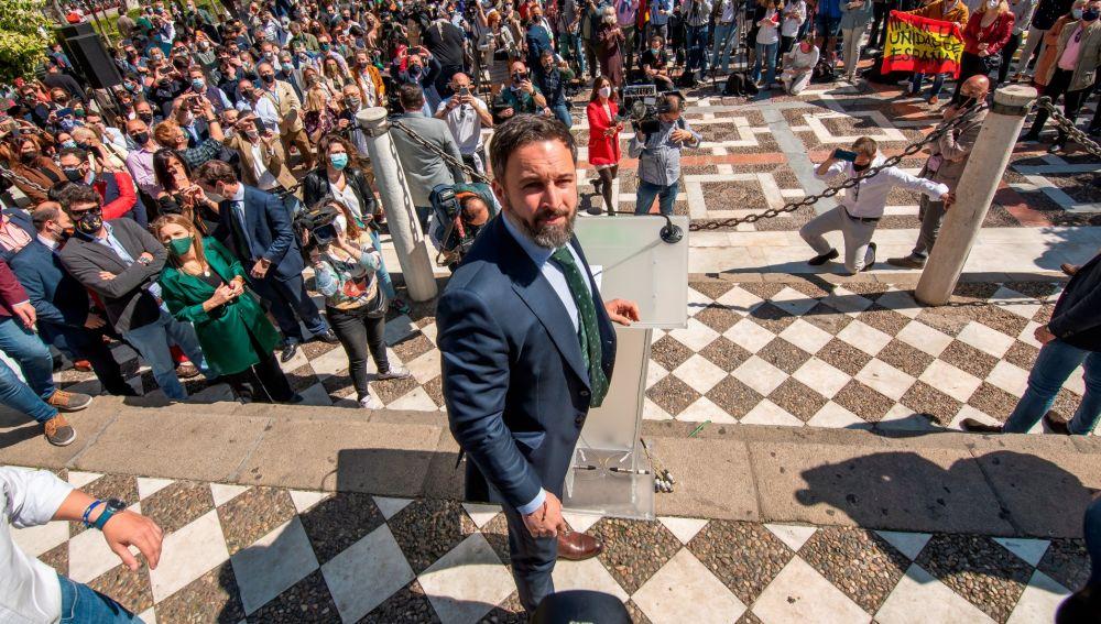 Santiago Abascal, este miércoles en Sevilla.