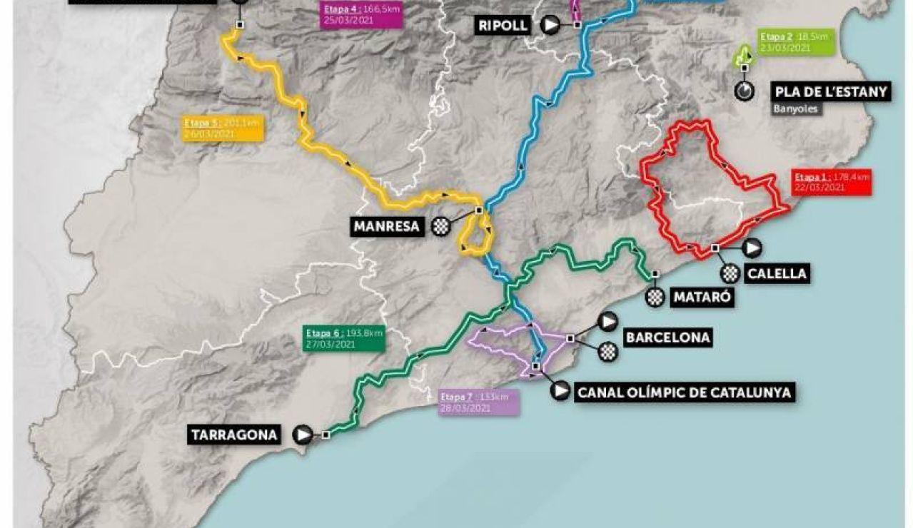 Volta a Catalunya 2021: recorrido y etapas de la carrera