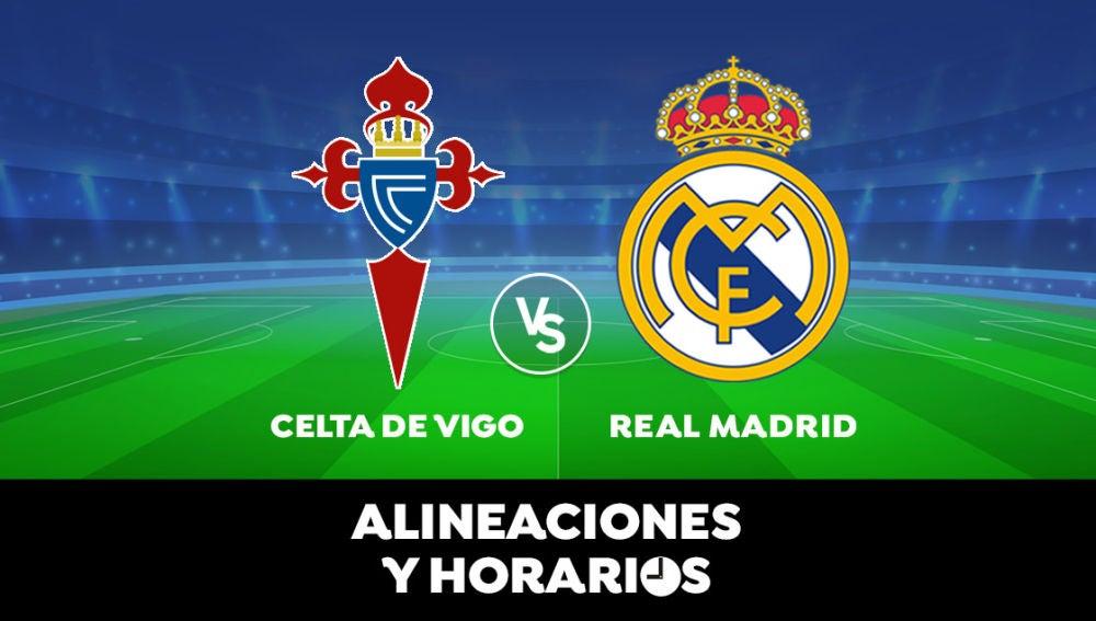 Celta de Vigo - Real Madrid: Horario, alineaciones y dónde ver el partido de Liga Santander en directo