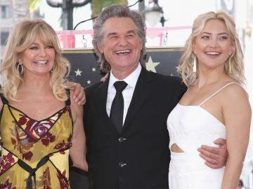 La familia de Goldie Hawn, Kurt Russell y Kate Hudson