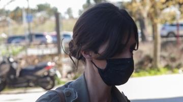 Sara Carbonero, a la salida de un restaurante en Madrid