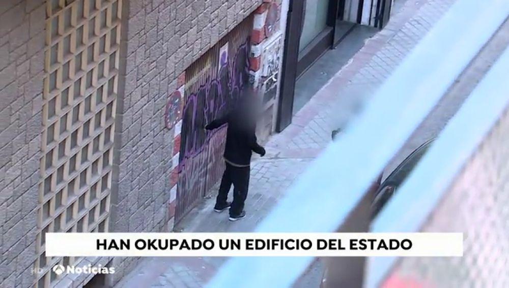 Okupan un edificio en el centro de Madrid propiedad del Estado