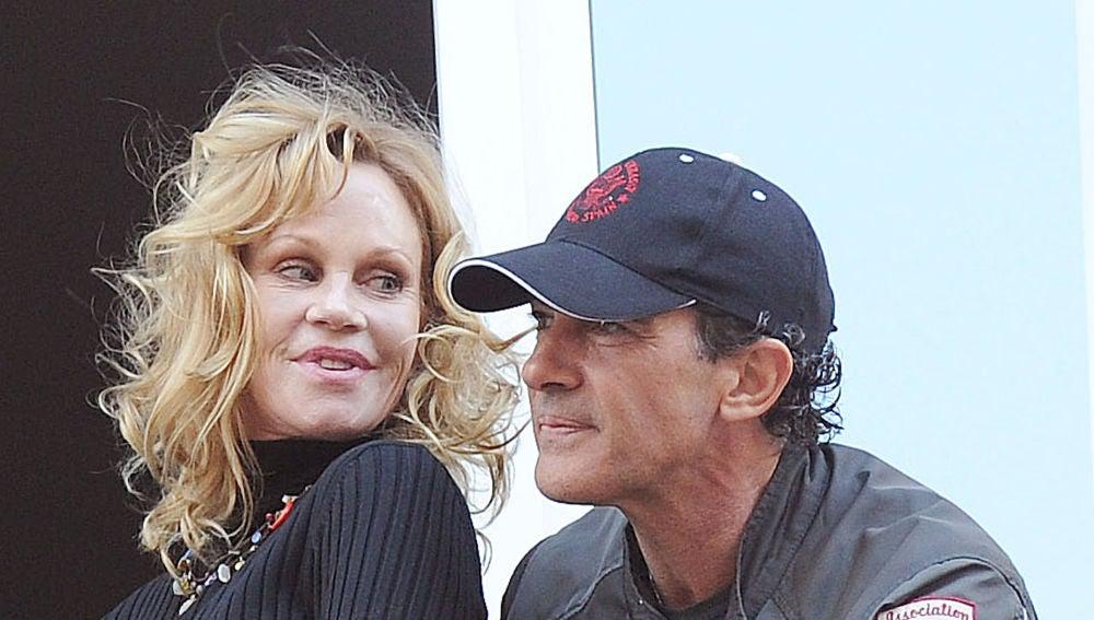 Antonio Banderas y Melanie Griffith, en Málaga