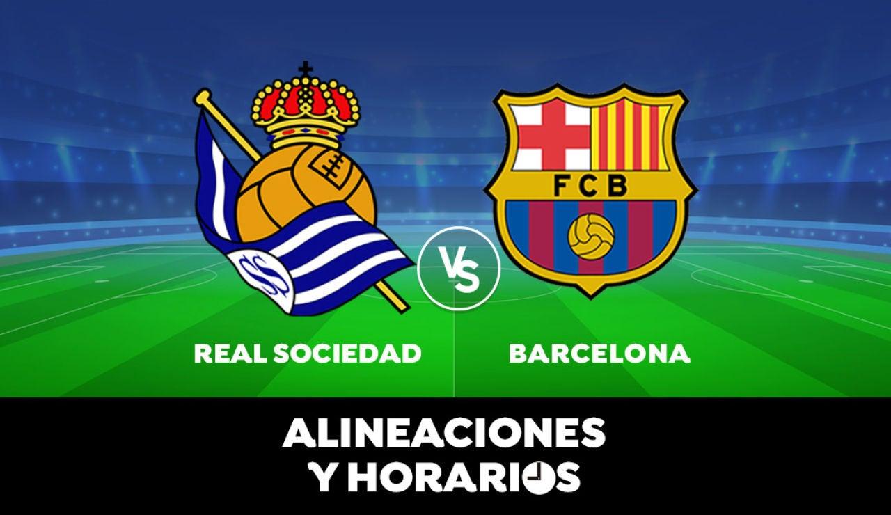 Real Sociedad - Barcelona: Horario, alineaciones y dónde ver el partido de la Liga Santander en directo