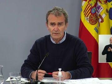 """Fernando Simón: """"La evolución está estancada y se observan algunos signos preocupantes"""""""