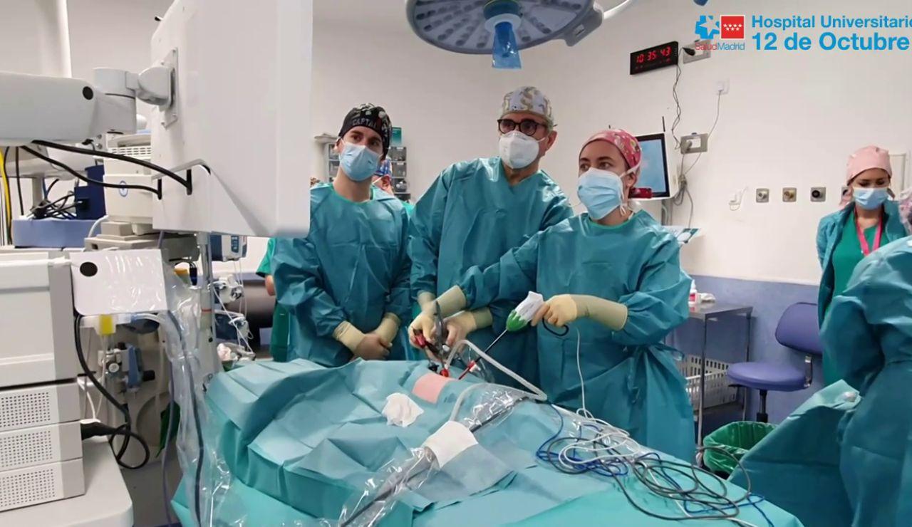 El Hospital 12 de Octubre logra por primera vez extirpar un lóbulo pulmonar a un bebé recién nacido