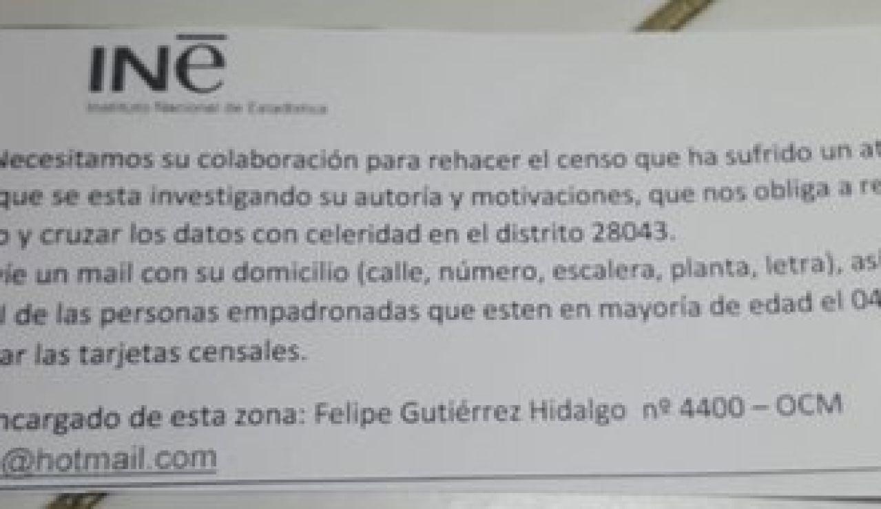 INE no pide datos personales para rehacer el censo tras un ataque informático