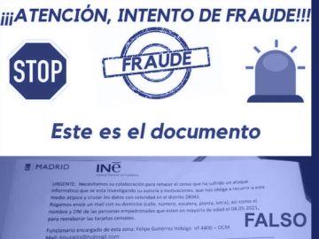 El INE avisa de un intento de fraude