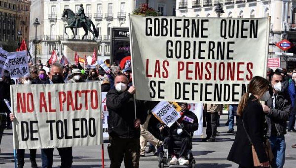Imagen de la manifestación en defensa del sistema de pensiones