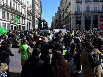 Imagen de la manifestación contra la Ley de la Vivienda en Madrid
