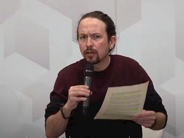 Pablo Iglesias defiende la vivienda y ataca a los medios en su primer acto tras anunciar su candidatura en Madrid