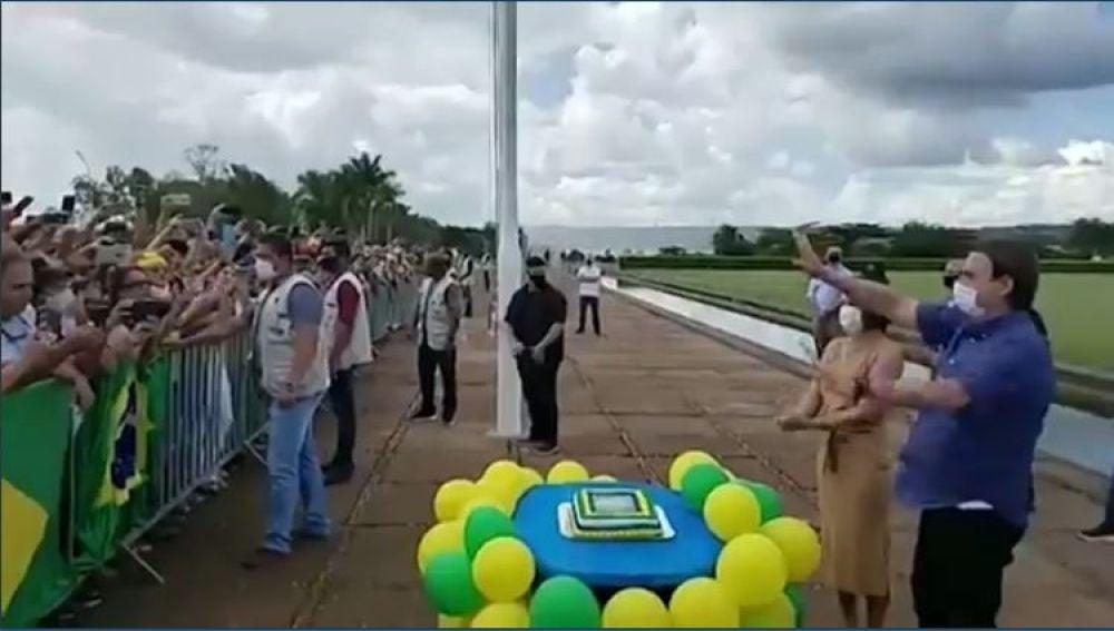 Bolsonaro en su cumpleaños