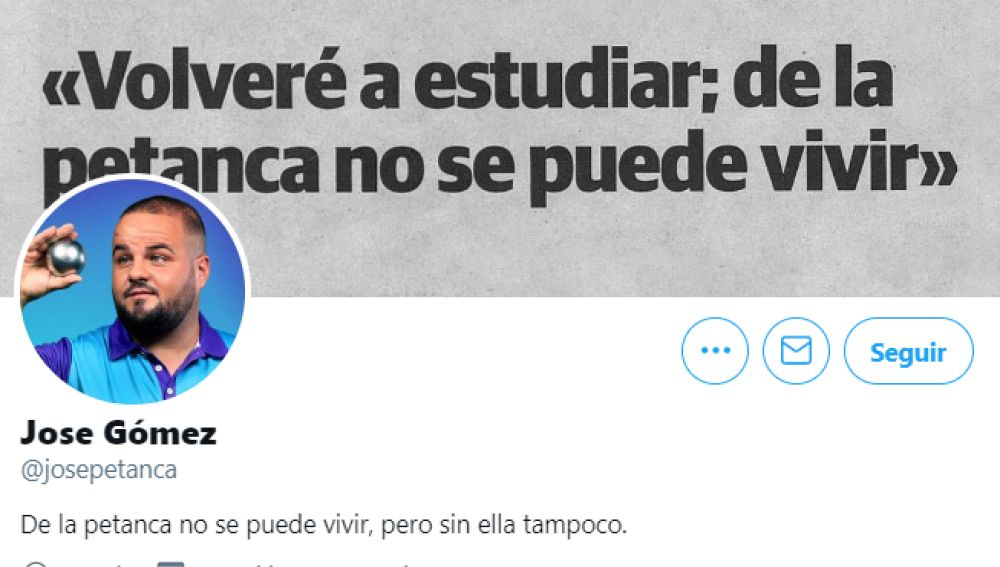 José Gómez, el 'niño de la petanca', revoluciona las redes con su debut en Twitter: