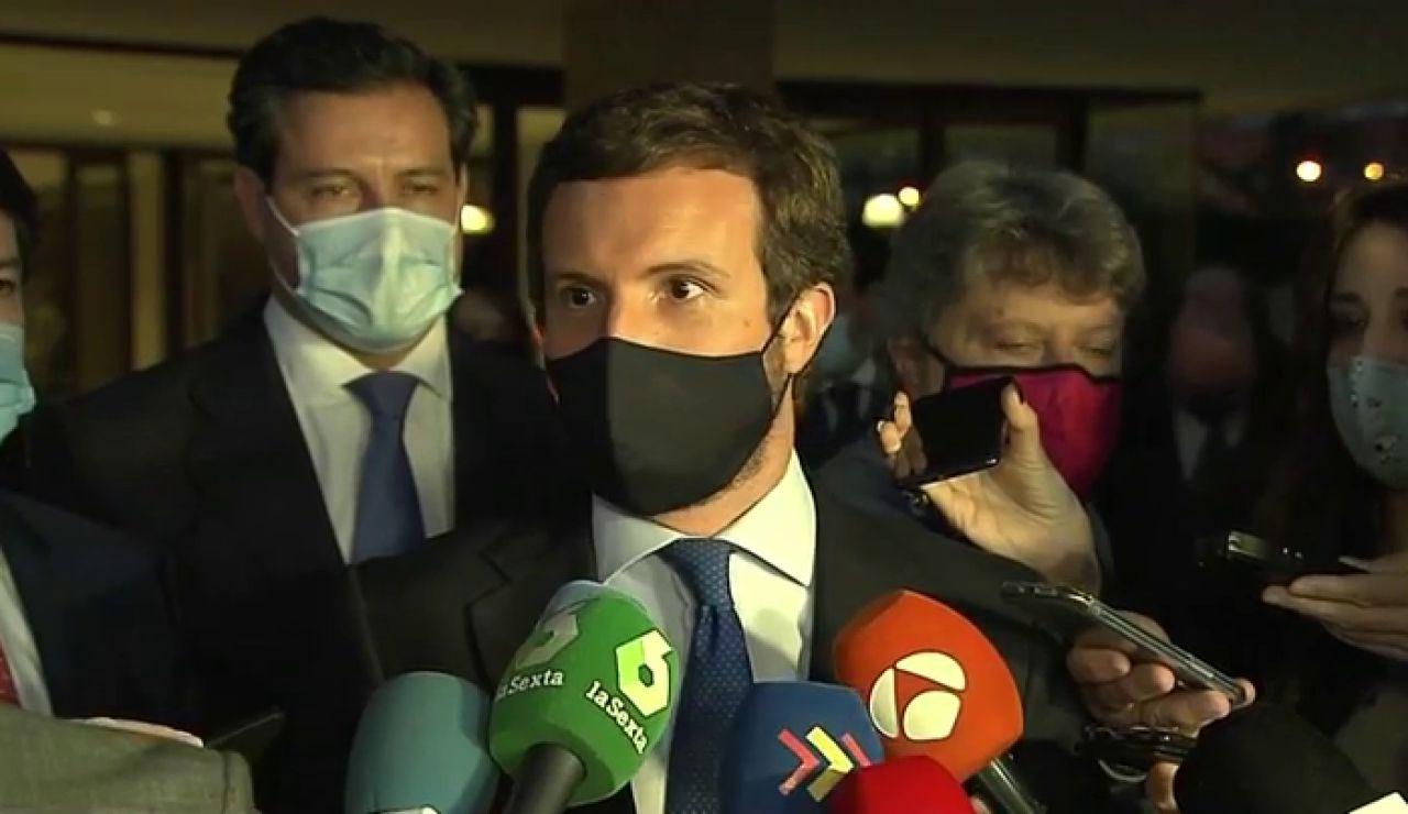 """Pablo Casado tras el fracaso de la moción de censura del PSOE: """"Hoy pierde Pedro Sánchez, gana Castilla y León"""""""