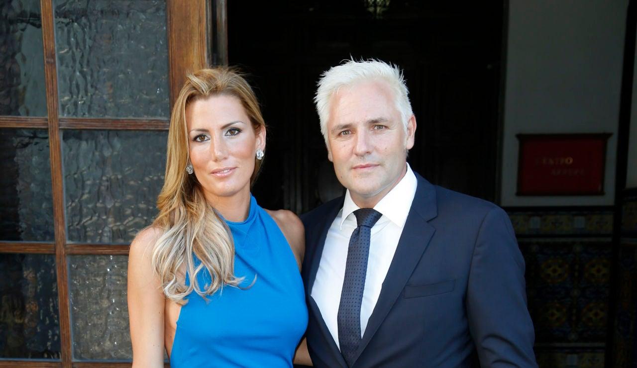 Santiago Cañizares y su mujer, Mayte García