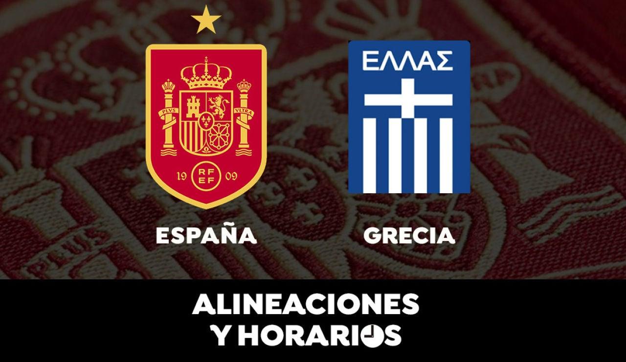 España - Grecia: Horario, alineaciones y dónde ver el partido de clasificación para el Mundial de Qatar 2022 en directo
