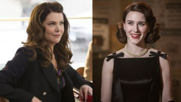 Lauren Graham en 'Las chicas Gilmore' y Rachel Brosnahan en 'The Marvelous Mrs. Maisel'
