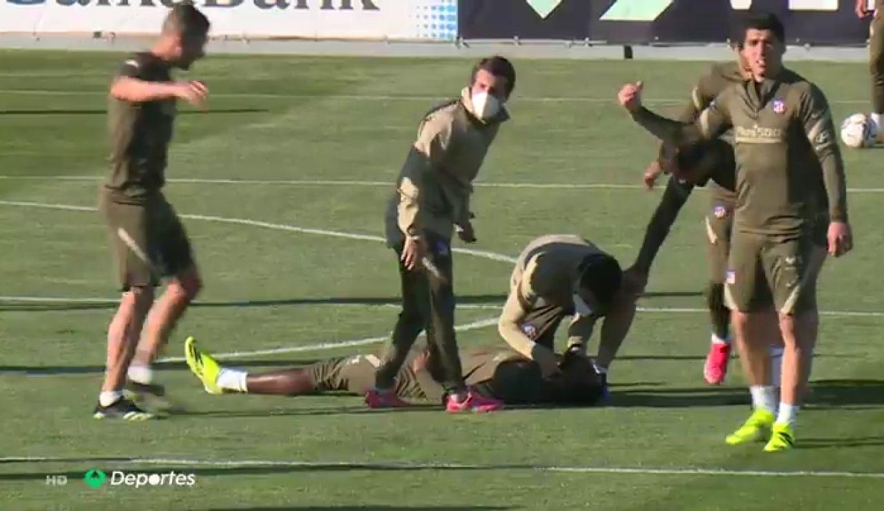 Dembélé se desmaya durante el entrenamiento del Atlético de Madrid