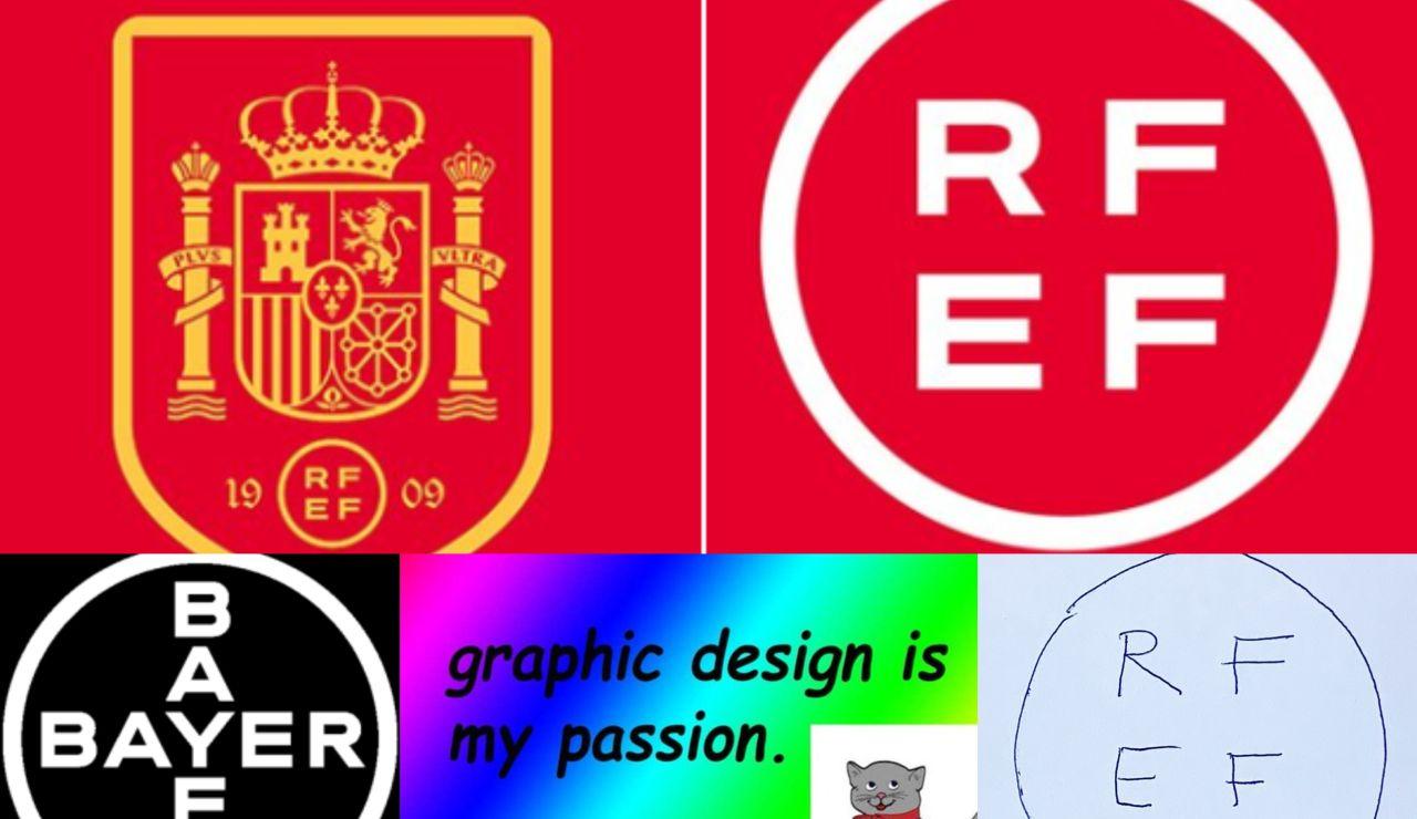 Los mejores memes del cambio de diseño del escudo de la selección española y el logo de la RFEF