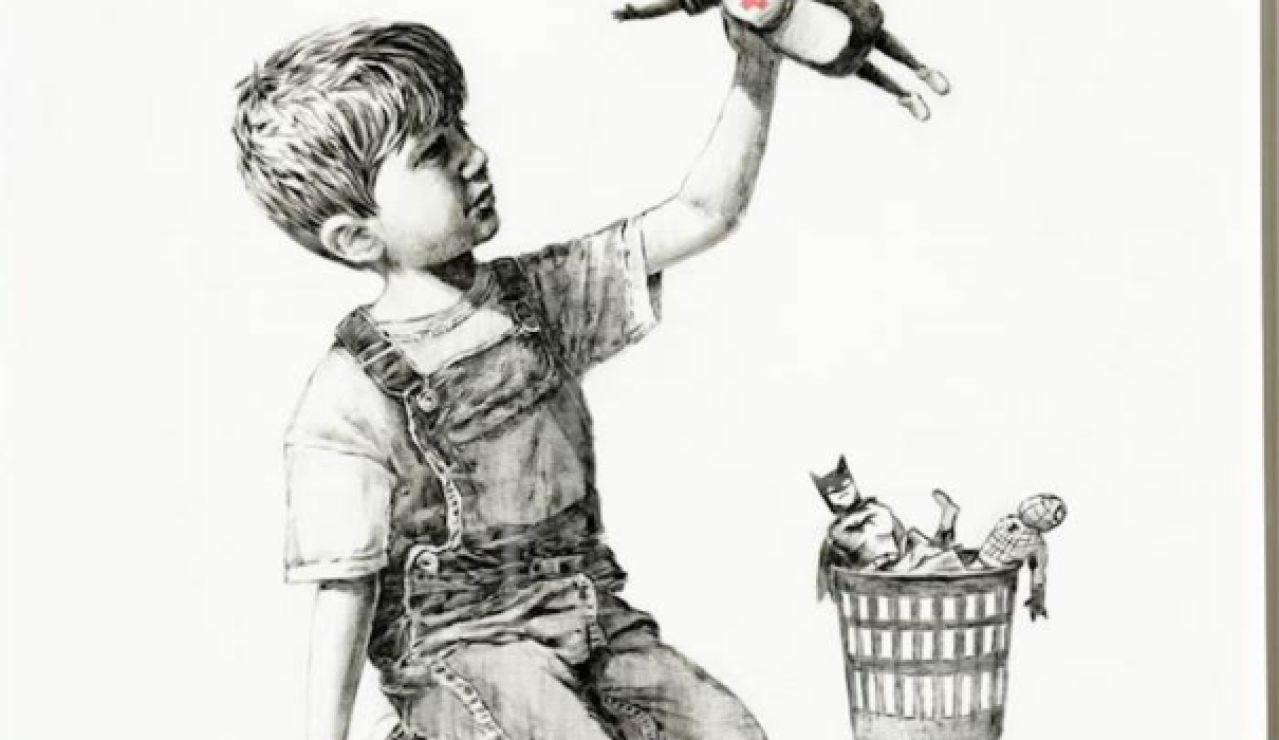 Banksy alcanza su récord en la subasta de la obra dedicada a los sanitarios
