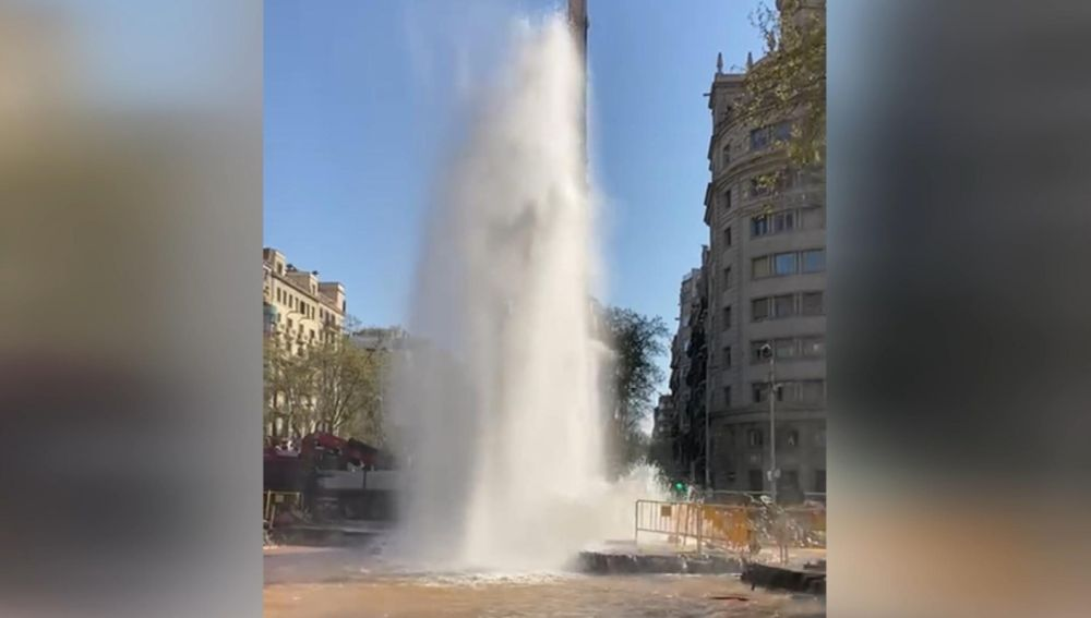 Fuga de agua en Barcelona