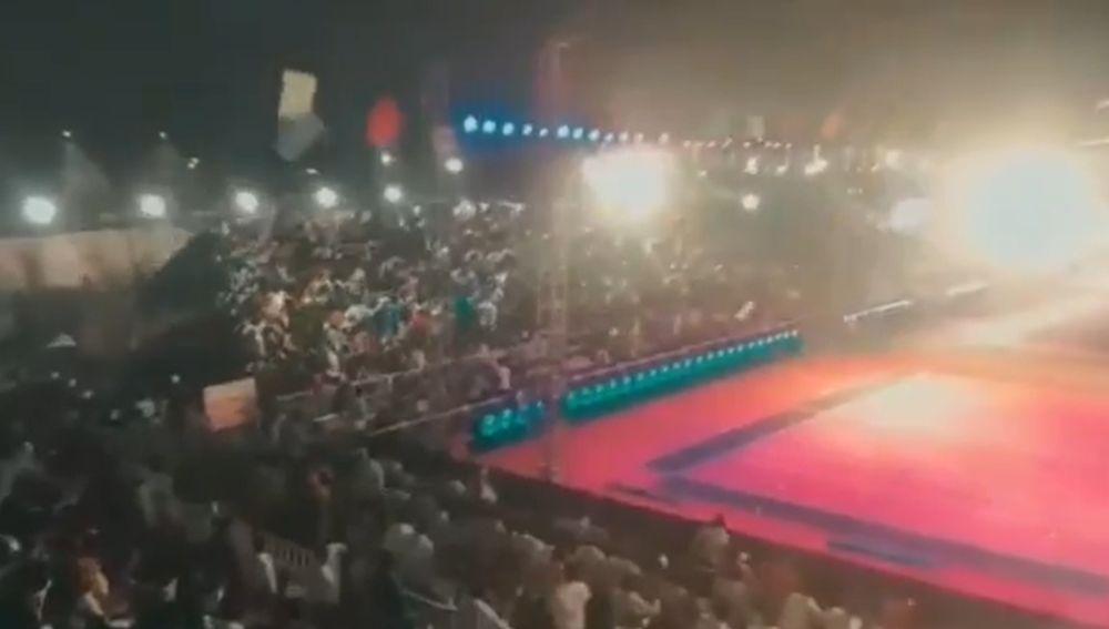 Se derrumba una grada con 2.000 personas en un torneo de Kabbadi en la India