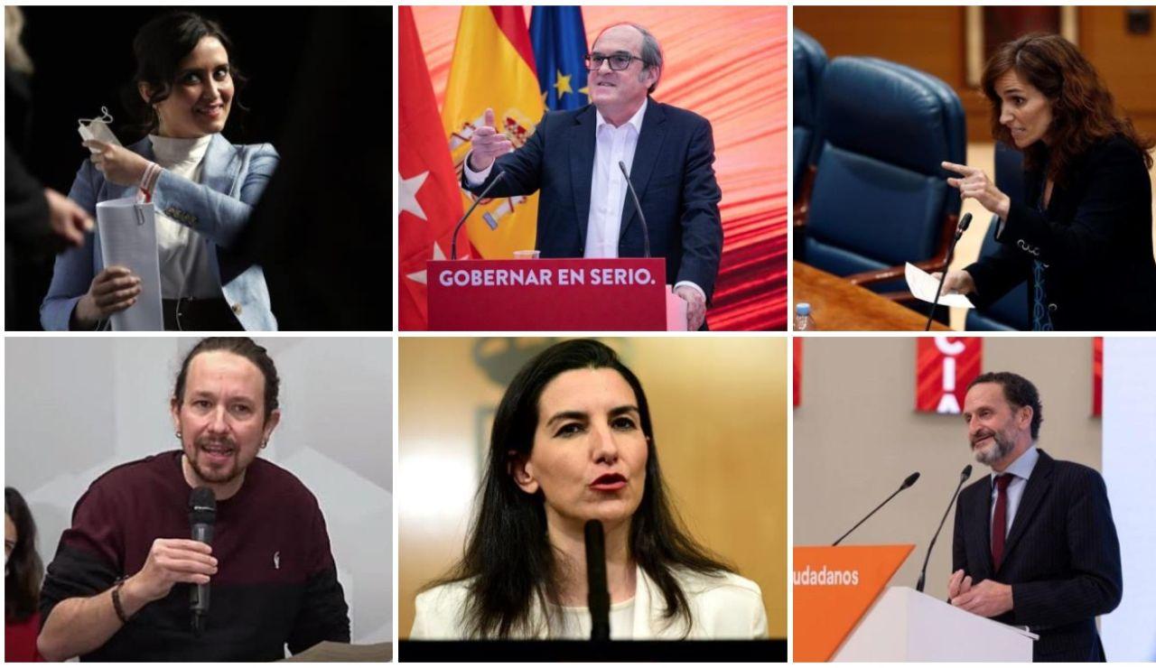 Candidatos a las elecciones en Madrid 2021
