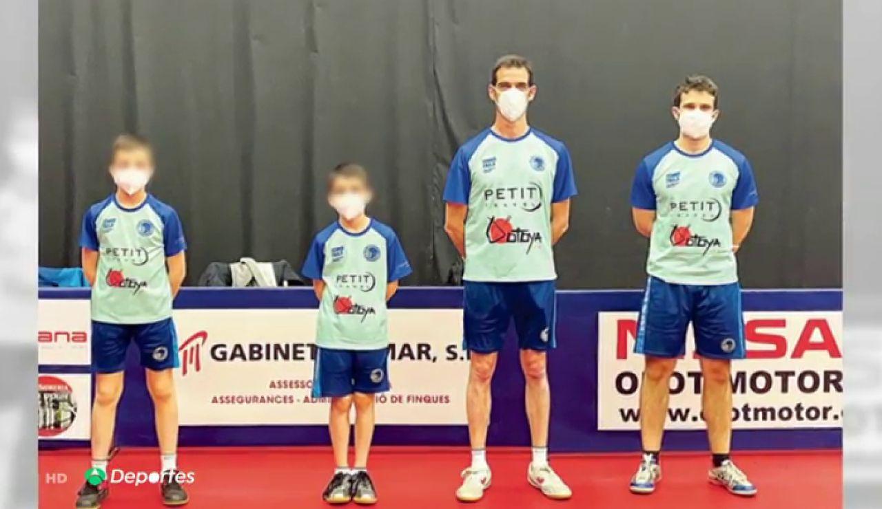El Sabadell de tenis mesa recurre a dos niños para completar su convocatoria ante las bajas por coronavirus