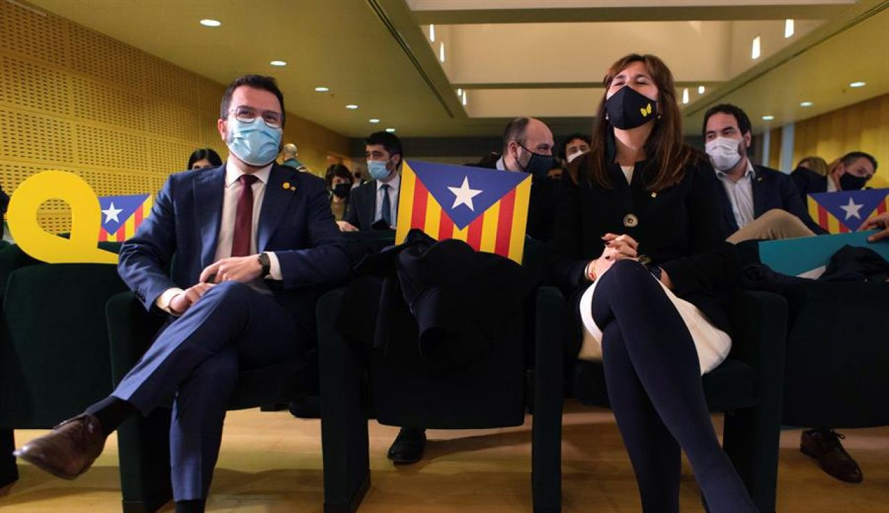 Pere Aragonès y Laura Borràs