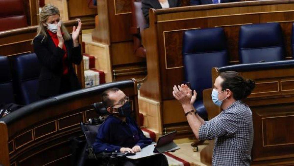 Pablo Iglesias se despide en el Congreso de los Diputados