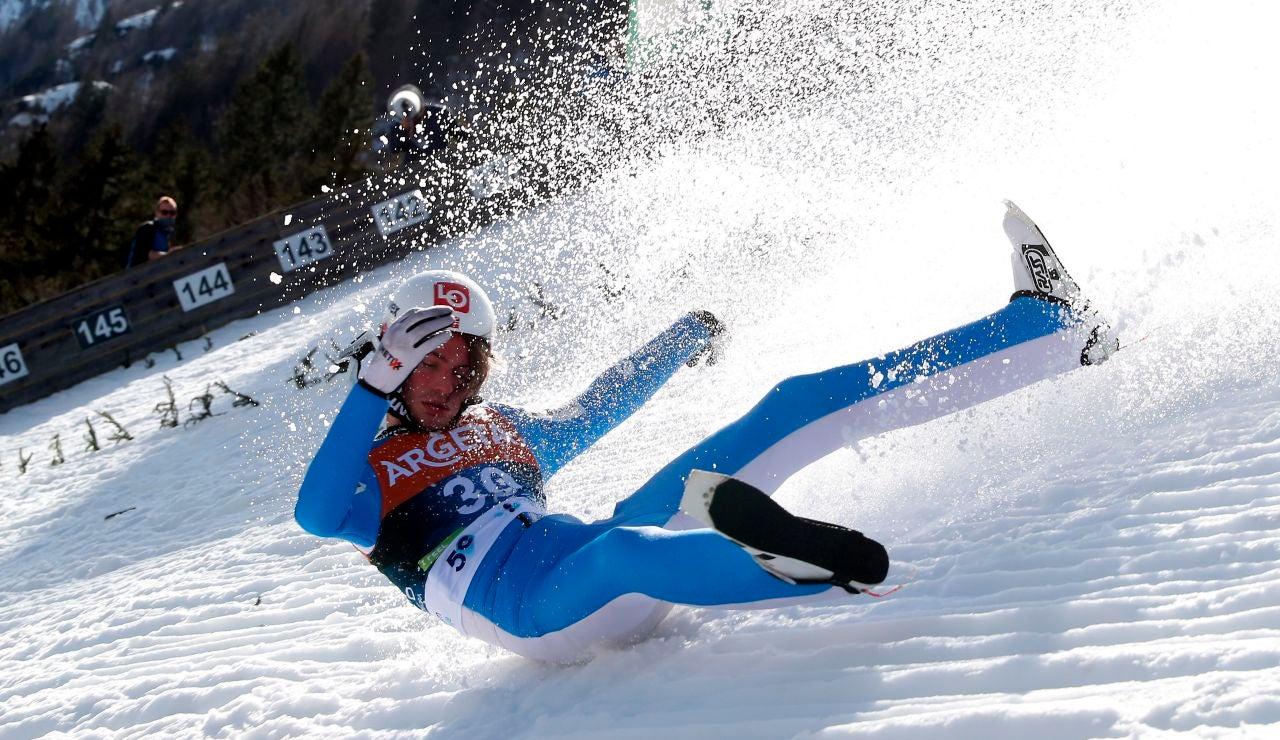 El sobrecogedor accidente del esquiador Daniel-André Tande durante un salto de trampolín en Eslovenia