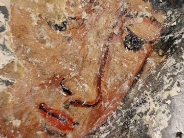 Mural en el monasterio Estevo de Ribas do Sil