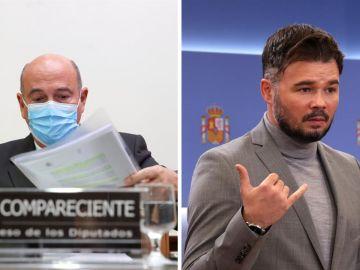 De los Cobos y Rufián ha protagonizado un tenso debate durante la comisión sobre la operación Kitchen
