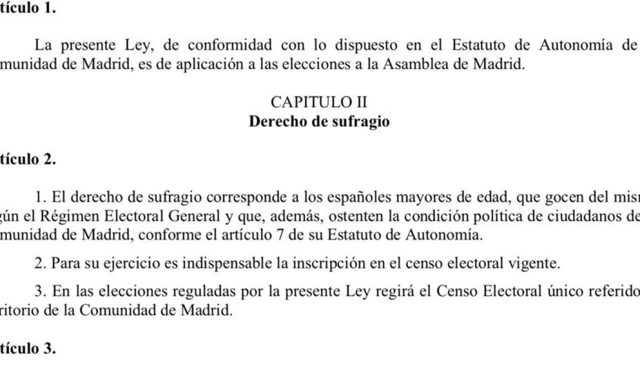 ¿Qué dice la ley electoral sobre el empadronamiento de Toni Cantó?