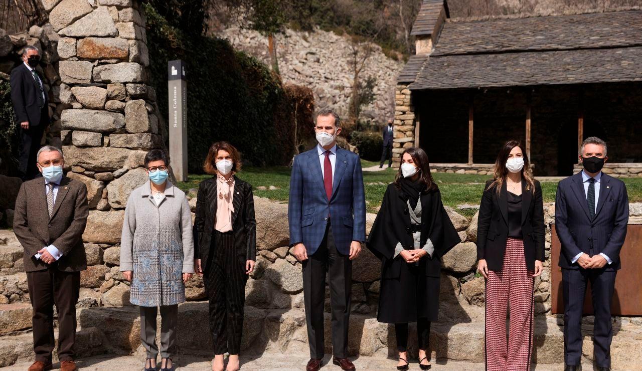 Los reyes concluyen su visita en Andorra